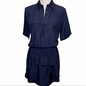 ATM by Revolve Silk Navy Shirtdress SM